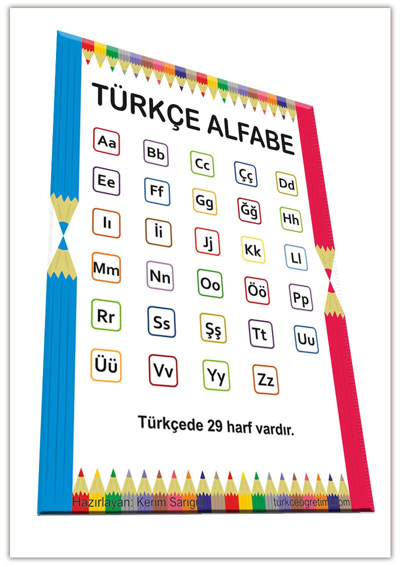 Türkçe Alfabe Afişi